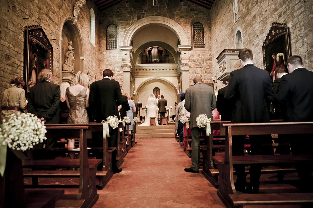 wedding in a Tuscan church