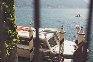 boat at Villa del Balbianello